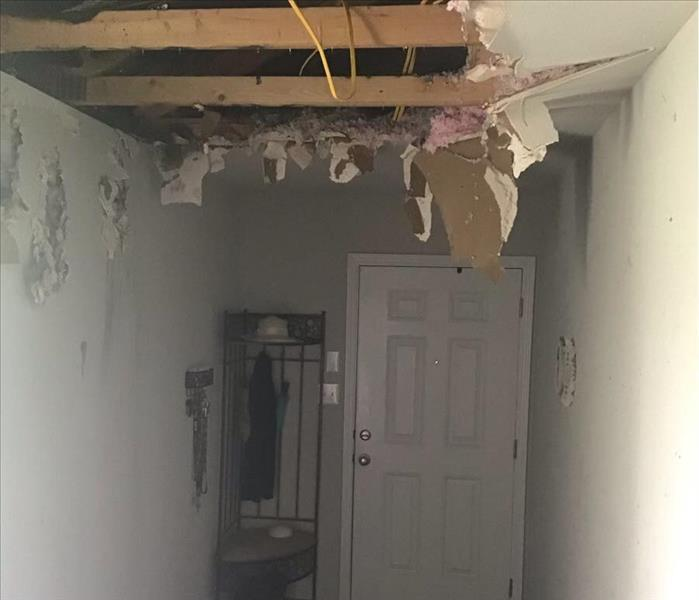 Missing Drywall after Lightening Strike Fire Loss
